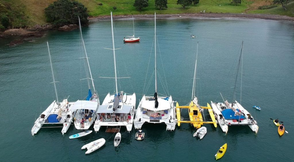 multihull raft-up in Auckland, New Zealand